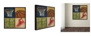 "Trademark Global Stephanie Marrott 'Basketball 4 Patch' Canvas Art - 14"" x 14"""