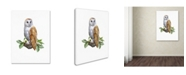 "Trademark Global The Macneil Studio 'Barn Owl' Canvas Art - 14"" x 19"""