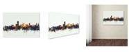 """Trademark Global Michael Tompsett 'Adelaide Australia Skyline' Canvas Art - 12"""" x 19"""""""