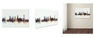 "Trademark Global Michael Tompsett 'Shrewsbury England Skyline V' Canvas Art - 12"" x 19"""