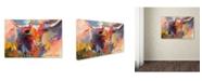 "Trademark Global Richard Wallich 'Steer' Canvas Art - 12"" x 19"""