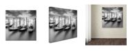 """Trademark Global Moises Levy '3 Gondolas 2' Canvas Art - 14"""" x 14"""""""
