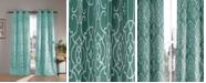 "Duck River Textile Kit 38"" x 112"" Geometric Print Blackout Curtain Set"