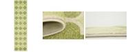 """Bridgeport Home Arbor Arb7 Green 2' 7"""" x 10' Runner Area Rug"""