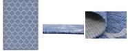 "Bridgeport Home Pashio Pas5 Navy Blue 8' x 11' 4"" Area Rug"