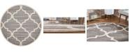 Bridgeport Home Arbor Arb3 Gray 8' x 8' Round Area Rug