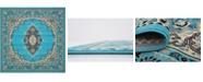 Bridgeport Home Birsu Bir1 Turquoise 8' x 8' Square Area Rug