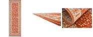 Bridgeport Home Pashio Pas3 Rust Red 2' x 6' Runner Area Rug