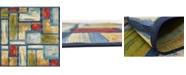 Bridgeport Home Pashio Pas1 Multi 6' x 6' Square Area Rug