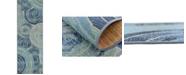 Bridgeport Home Pashio Pas1 Light Blue 2' x 6' Runner Area Rug