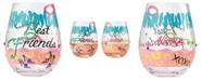 Enesco Lolita Friends Wine Glass - Set of 2
