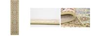 Bridgeport Home Zara Zar9 Green 3' x 13' Runner Area Rug