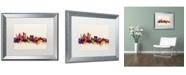 """Trademark Global Michael Tompsett 'Sydney Australia Skyline' Matted Framed Art - 16"""" x 20"""""""