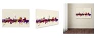 "Trademark Global Michael Tompsett 'Auckland New Zealand Skyline' Canvas Art - 16"" x 24"""