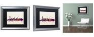"""Trademark Global Michael Tompsett 'Jersey City New Jersey Skyline' Matted Framed Art - 16"""" x 20"""""""
