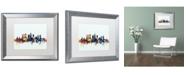 """Trademark Global Michael Tompsett 'Atlanta Georgia Skyline Blue' Matted Framed Art - 16"""" x 20"""""""