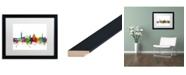 """Trademark Global Michael Tompsett 'Florence Italy Skyline White' Matted Framed Art - 16"""" x 20"""""""