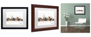 "Trademark Global Michael Tompsett 'Toronto Canada Skyline Purple' Matted Framed Art - 16"" x 20"""