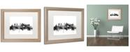 """Trademark Global Michael Tompsett 'Tokyo Japan Skyline B&W' Matted Framed Art - 16"""" x 20"""""""