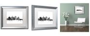 "Trademark Global Michael Tompsett 'Los Angeles CA Skyline B&W' Matted Framed Art - 16"" x 20"""