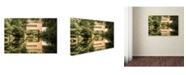 "Trademark Global PIPA Fine Art 'The Reflection of Wooddale Covered Bridge' Canvas Art - 16"" x 24"""