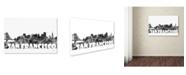 """Trademark Global Marlene Watson 'San Francisco California Skyline BG-2' Canvas Art - 16"""" x 24"""""""