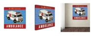 "Trademark Global Stephanie Marrott 'Ambulance' Canvas Art - 18"" x 18"""