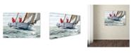 "Trademark Global The Macneil Studio 'Racing Yacht' Canvas Art - 16"" x 24"""