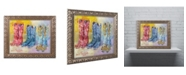 "Trademark Global Richard Wallich 'Cowboy Boots' Ornate Framed Art - 16"" x 20"""