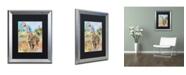 """Trademark Global Richard Wallich 'Giraffe' Matted Framed Art - 16"""" x 20"""""""