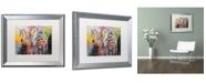"""Trademark Global Richard Wallich 'Zebras' Matted Framed Art - 16"""" x 20"""""""