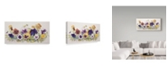 "Trademark Global Joanne Porter 'Pansies Faces' Canvas Art - 16"" x 32"""