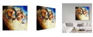 "Trademark Global Marcia Baldwin 'Warrior Spirits 2' Canvas Art - 18"" x 18"""