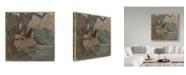 """Trademark Global Edgar Degas 'The Ballet Dancers' Canvas Art - 14"""" x 14"""""""