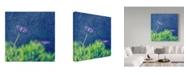 "Trademark Global Incredi 'Purple Flower In The Rain' Canvas Art - 14"" x 14"""