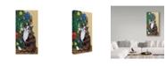 "Trademark Global Jan Panico 'Rudolph Awaiting An Ornament' Canvas Art - 16"" x 32"""