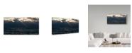 """Trademark Global Kurt Shaffer 'Light On A Restless Great Lake 2' Canvas Art - 24"""" x 12"""""""