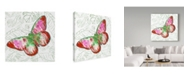 "Trademark Global Jean Plout 'Potanical Beauties 5' Canvas Art - 14"" x 14"""