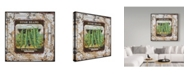 "Trademark Global Jean Plout 'Tin Tile-Beans' Canvas Art - 18"" x 18"""