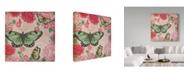 """Trademark Global Jean Plout 'Jardin De Luxe 4' Canvas Art - 14"""" x 14"""""""