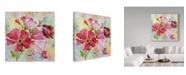 "Trademark Global Jean Plout 'Garden Beauty 1' Canvas Art - 18"" x 18"""