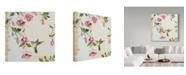"Trademark Global Jean Plout 'Rubys Among The Fuchsias' Canvas Art - 24"" x 24"""