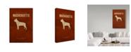 "Trademark Global Red Atlas Designs 'State Animal Massachusetts' Canvas Art - 16"" x 24"""