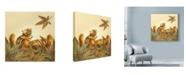 "Trademark Global Peggy Harris 'Fall Flurry' Canvas Art - 18"" x 18"""