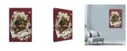 "Trademark Global Peggy Harris 'Pup Fiction 2' Canvas Art - 12"" x 19"""