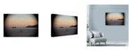 "Trademark Global Liz Zernich 'Mountain Coast' Canvas Art - 19"" x 12"""
