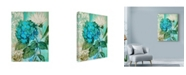 "Trademark Global Marietta Cohen Art And Design 'Blue Hortensia Floral' Canvas Art - 18"" x 24"""