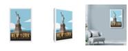 "Trademark Global Michael Jon Watt 'New York Travel Poster' Canvas Art - 12"" x 19"""