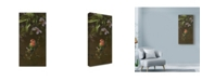 "Trademark Global Michael Jackson 'Peach Faced Lovebird 1' Canvas Art - 10"" x 19"""