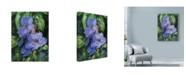 "Trademark Global Michael Jackson 'Flowers Over Green Background' Canvas Art - 24"" x 32"""